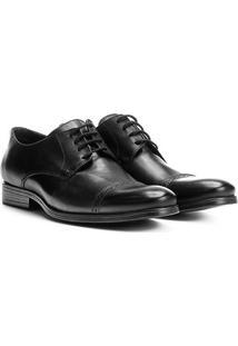 Sapato Social Couro Walkabout Sforzesco Masculino - Masculino-Preto