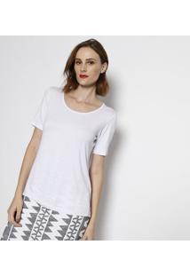 Camiseta Lisa Manga Curta- Branca- Simple Lifesimple Life