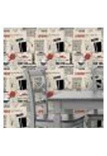 Papel De Parede Autocolante Jornal Rolo 0,58 X 3M 165547997