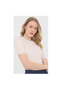 Blusa Tricot Facinelli By Mooncity Textura Off-White