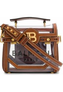 Balmain Bolsa De Mão B-Buzz 32 - Marrom