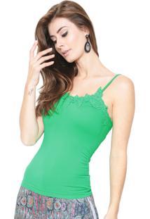 Regata Estilo Boutique Guipir Basic Verde