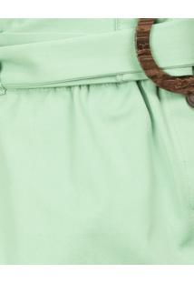 Saia Clochard Com Cinto Verde Inspire - Lez A Lez
