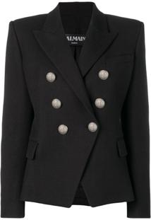 Balmain Structured Fit Blazer - Preto
