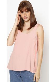 Blusa Lisa Com Vazado- Laranja Clarohering