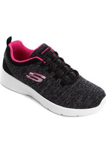Tênis Skechers Dynamight 2.0 In A Flash Feminino - Feminino-Preto+Pink