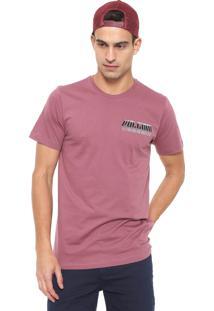 Camiseta Volcom Black Hole Vinho