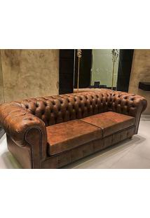 Sofá Chesterfield Couro Ln 378