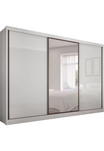 Guarda-Roupa Casal Com Espelho Spazzio 3 Pt 6 Gv Branco