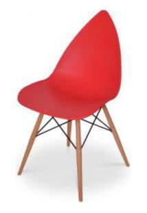 Cadeira Pingo Falkk Fl-001 Vermelho