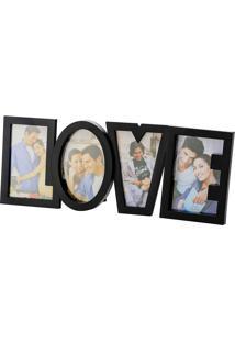 Porta-Retrato Love 10X15 Para 4 Fotos - Prestige - Preto