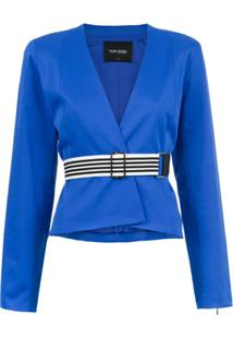 Tufi Duek Blusa Com Cinto - Azul