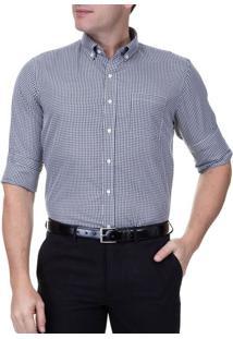 Camisa Social Masculina Manga Longa Preta