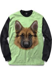 Blusa Bsc German Shepherd Dog Full Print - Masculino-Preto