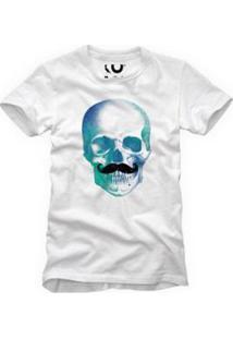 Camiseta Caveira Bigode Reserva Masculina - Masculino-Branco