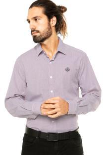 Camisa Forum Listras Vermelha/Cinza