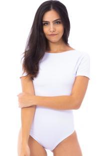Body Moda Vicio Manga Curta Branco - Branco - Feminino - Poliã©Ster - Dafiti