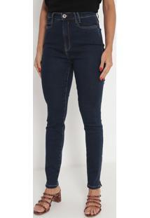 Jeans Cigarrete Super High- Azul Escuro- Ennaenna