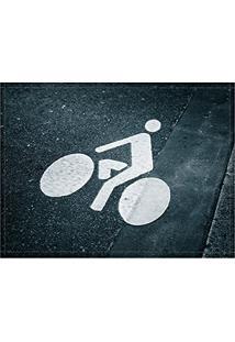 Jogo Americano Decorativo, Criativo E Descolado | Bicicleta Estampada No Asfalto - Tamanho 30 X 40 Cm