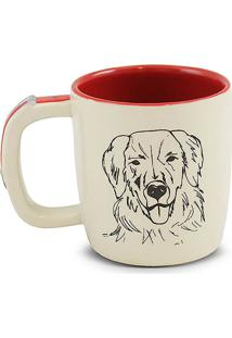 Caneca Pet-Golden 350Ml -Mondoceram - Creme