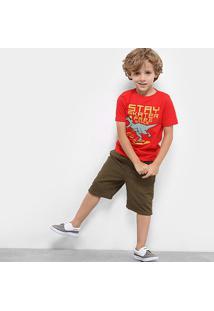 Camiseta Infantil Zeep! Dino Skate Masculina - Masculino