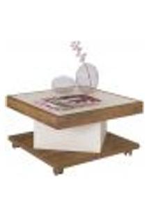 Mesa De Centro Decorativa Para Sala De Estar Saara A01 Pinho Off White - Lyam Decor