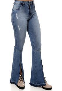 Calça Jeans Feminina Mokkai Azul
