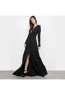 Vestido Longo Colcci - Feminino-Preto