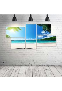 Quadro Decorativo - Praia-Paraiso - Composto De 5 Quadros - Multicolorido - Dafiti