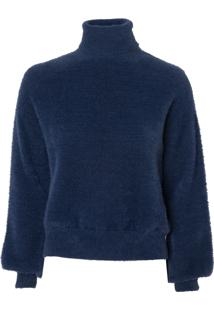 Blusa Le Lis Blanc Rose Iii Tricot Azul Feminina (Dark Blue, M)