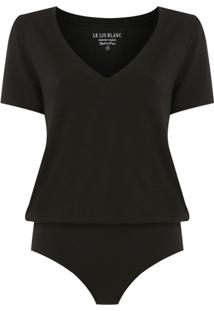 Le Lis Blanc Body T-Shirt Básica - Preto