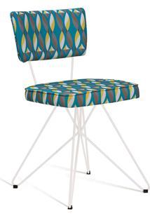 Cadeira Butterfly Retrô Branco E Verde Daf