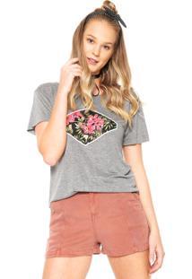 Camiseta Hang Loose Flores Cinza