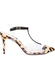 Scarpin Feminino Mary Jane Vinil Python - Animal Print