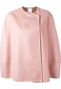 Agnona Short Cape Jacket - Rosa