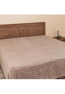 Cobertor Queen 2,20M X 2,40M Dobby Taupe