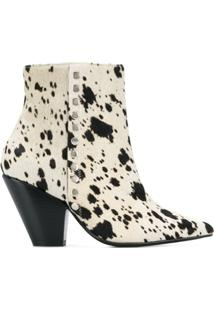 Toga Pulla Ankle Boot Com Padronagem - Branco