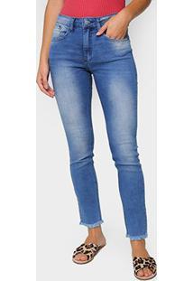 Calça Jeans Skinny John John Barra Desfiada Feminina - Feminino