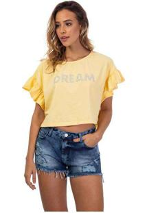 Blusa Feminina Dream Babado Amarelo