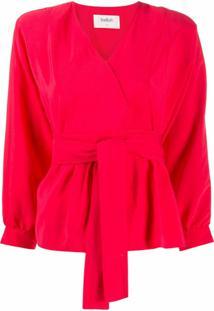 Ba&Sh Blusa Cola Com Amarração Na Cintura - Vermelho