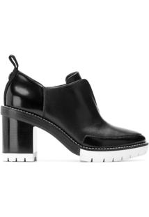 Tory Burch Ankle Boot 'Preston' De Couro - Preto