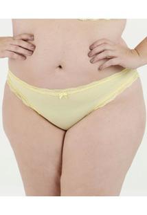 Calcinha Feminina Tanga Renda Flocada Plus Size Marisa