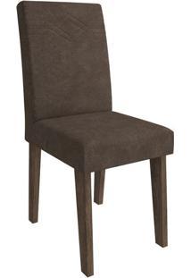 Cadeira Taís Com Moldura Sued Bege Marrocos