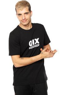 Camiseta Qix Estampada Preta