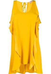 Twinset Blusa Com Acabamento De Babados - Amarelo