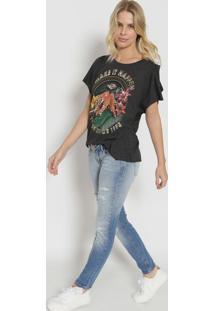 """Camiseta """"Make It Happen"""" - Preta & Laranjatriton"""