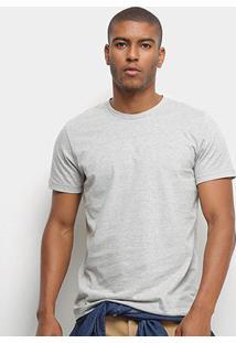 Camiseta T-Shirt Colcci Basic Masculina - Masculino-Mescla