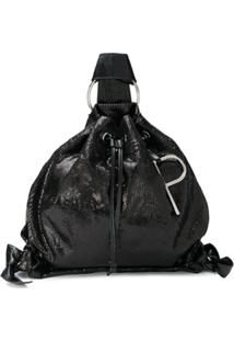 Patrizia Pepe Sequin Drawstring Backpack - Preto