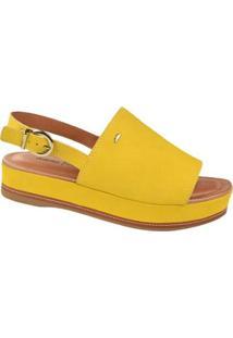 Sandália Dakota Camurça Feminino - Feminino-Amarelo