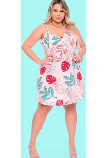 Vestido Almaria Plus Size Plump Curto Estampado Ro